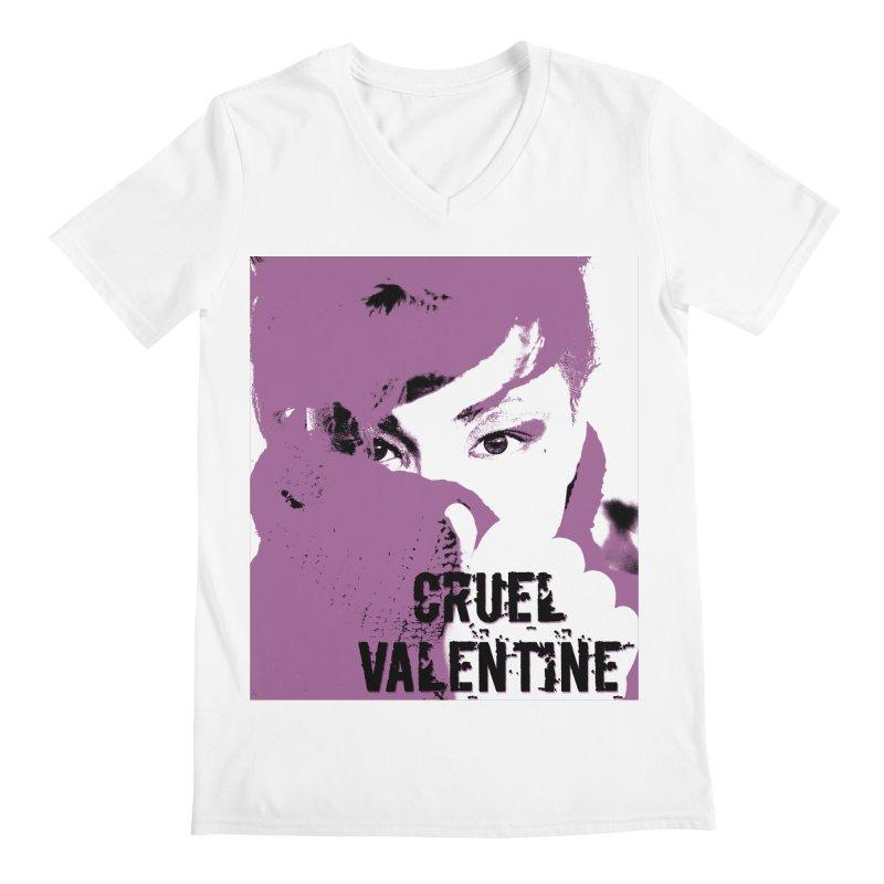 """Cruel Valentine """"Forget Me Not"""" in Purple Men's Regular V-Neck by Cruel Valentine"""