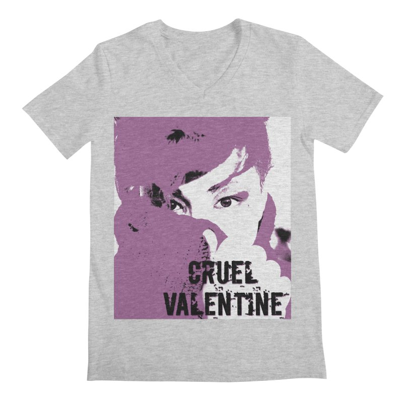 "Cruel Valentine ""Forget Me Not"" in Purple Men's Regular V-Neck by Cruel Valentine"