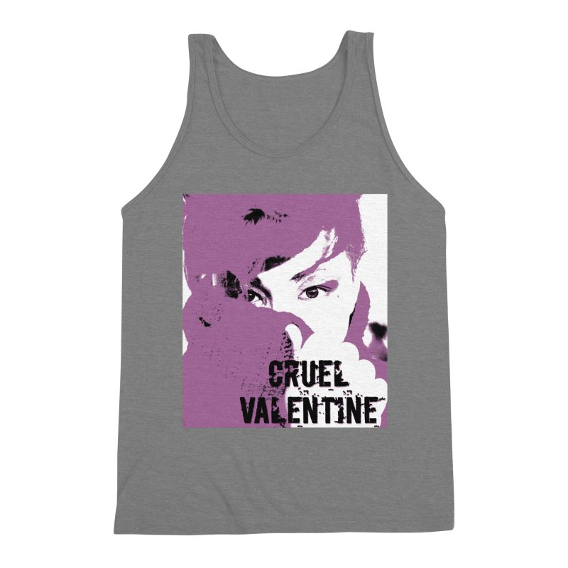 "Cruel Valentine ""Forget Me Not"" in Purple Men's Triblend Tank by Cruel Valentine"