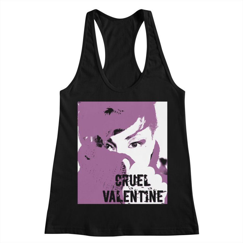 "Cruel Valentine ""Forget Me Not"" in Purple Women's Racerback Tank by Cruel Valentine"