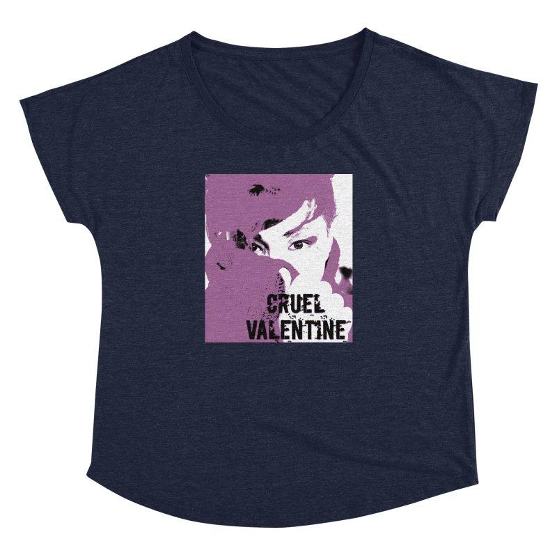 """Cruel Valentine """"Forget Me Not"""" in Purple Women's Dolman Scoop Neck by Cruel Valentine"""