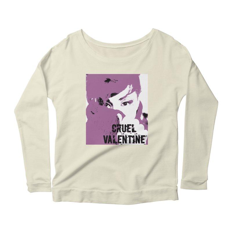 "Cruel Valentine ""Forget Me Not"" in Purple Women's Scoop Neck Longsleeve T-Shirt by Cruel Valentine"