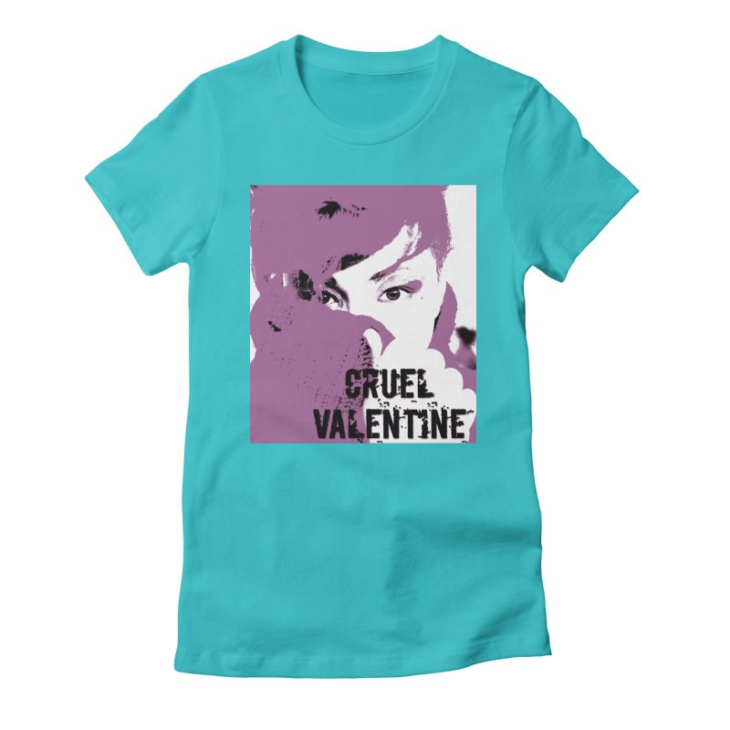 "Cruel Valentine ""Forget Me Not"" in Purple Women's Fitted T-Shirt by Cruel Valentine"