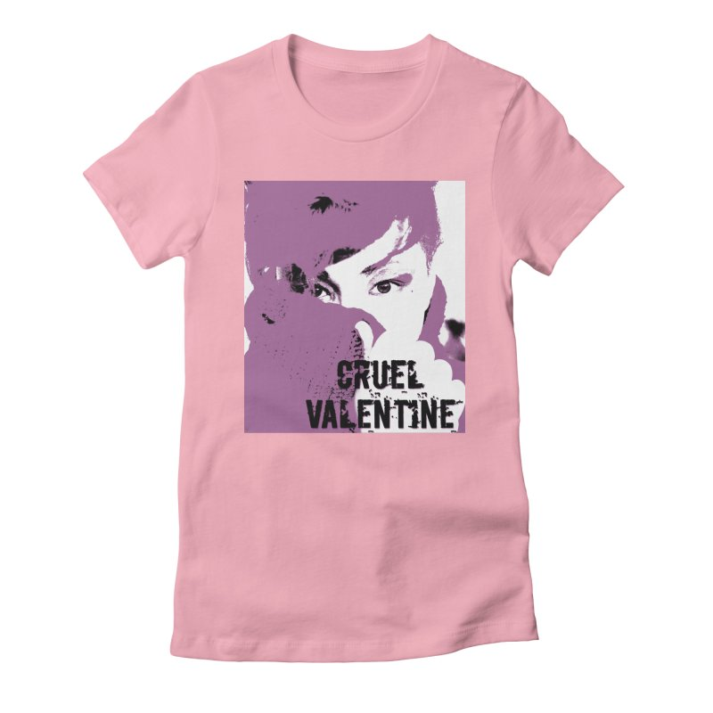 "Cruel Valentine ""Forget Me Not"" in Purple Women's Fitted T-Shirt by Cruel Valentine"