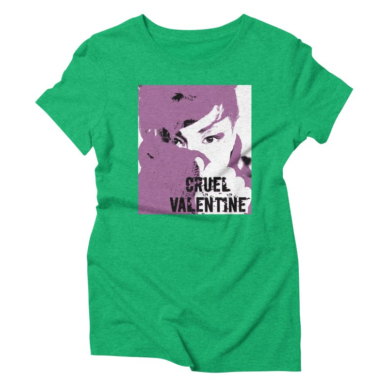 "Cruel Valentine ""Forget Me Not"" in Purple Women's Triblend T-Shirt by Cruel Valentine"