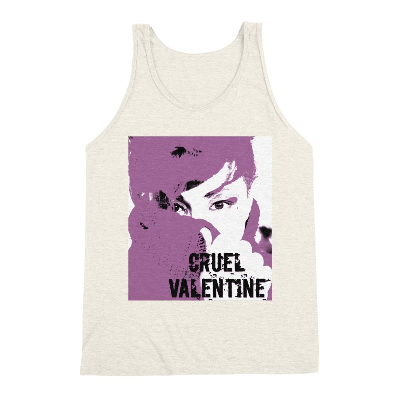 "Cruel Valentine ""Forget Me Not"" in Purple Men's Triblend Tank by Cruel Valentine"