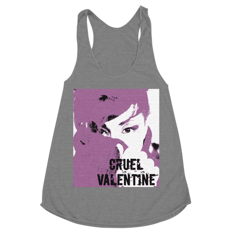 "Cruel Valentine ""Forget Me Not"" in Purple Women's Racerback Triblend Tank by Cruel Valentine"