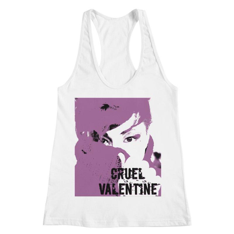 "Cruel Valentine ""Forget Me Not"" in Purple Women's Racerback Tank by Cruel Valentine"