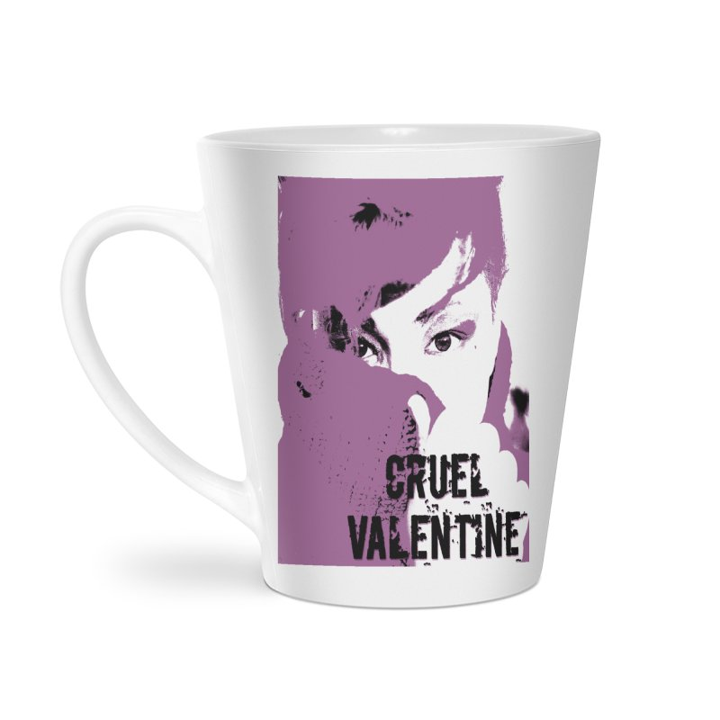 "Cruel Valentine ""Forget Me Not"" in Purple Accessories Latte Mug by Cruel Valentine"