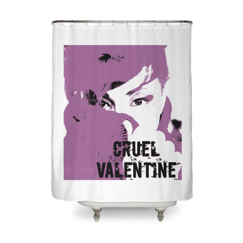 "Cruel Valentine ""Forget Me Not"" in Purple Home Shower Curtain by Cruel Valentine"