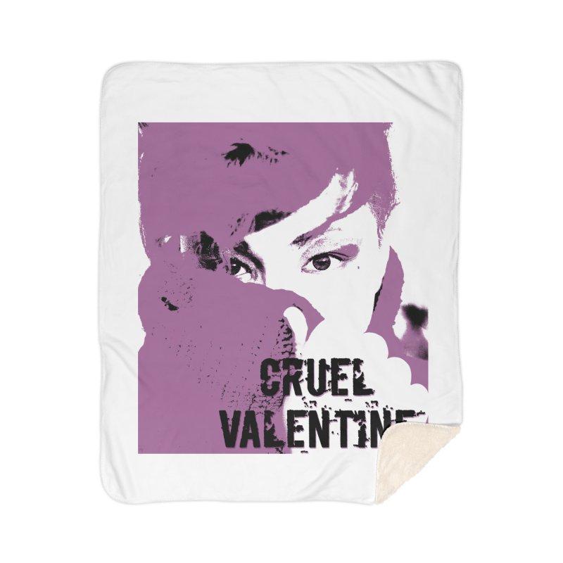 "Cruel Valentine ""Forget Me Not"" in Purple Home Sherpa Blanket Blanket by Cruel Valentine"