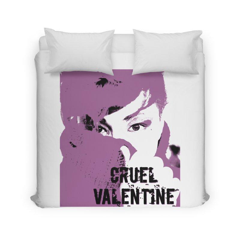"Cruel Valentine ""Forget Me Not"" in Purple Home Duvet by Cruel Valentine"