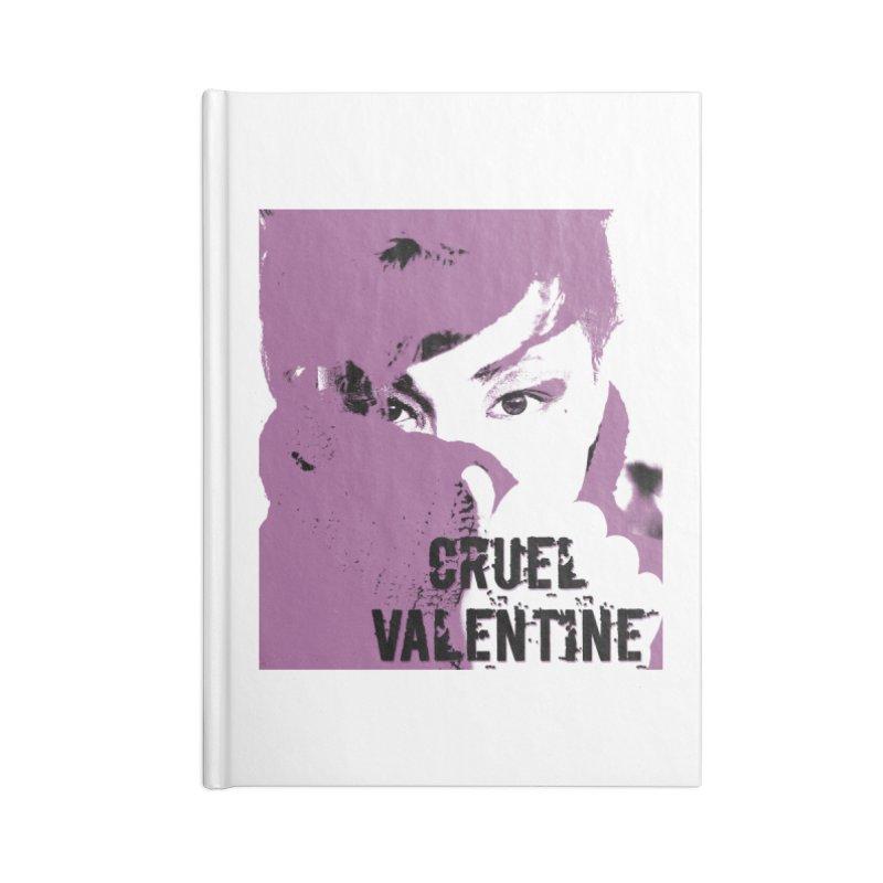 "Cruel Valentine ""Forget Me Not"" in Purple Accessories Lined Journal Notebook by Cruel Valentine"