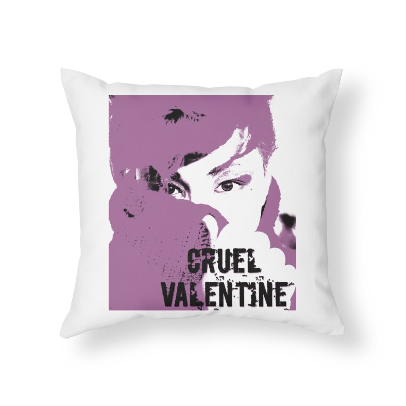 "Cruel Valentine ""Forget Me Not"" in Purple Home Throw Pillow by Cruel Valentine"
