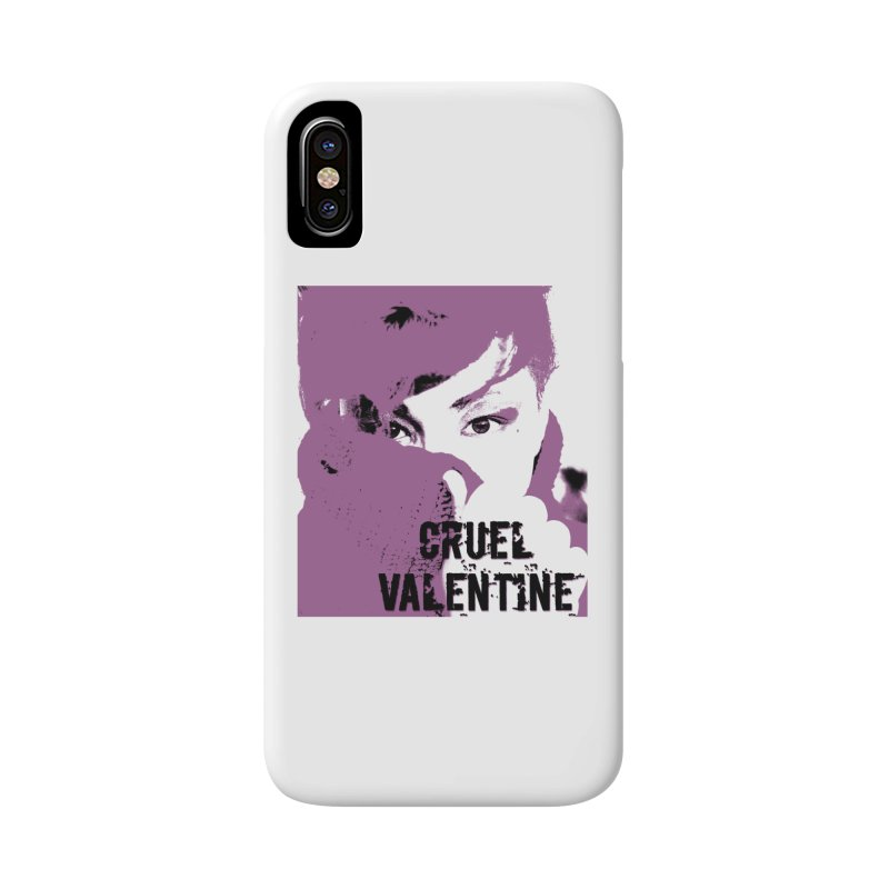 "Cruel Valentine ""Forget Me Not"" in Purple Accessories Phone Case by Cruel Valentine"