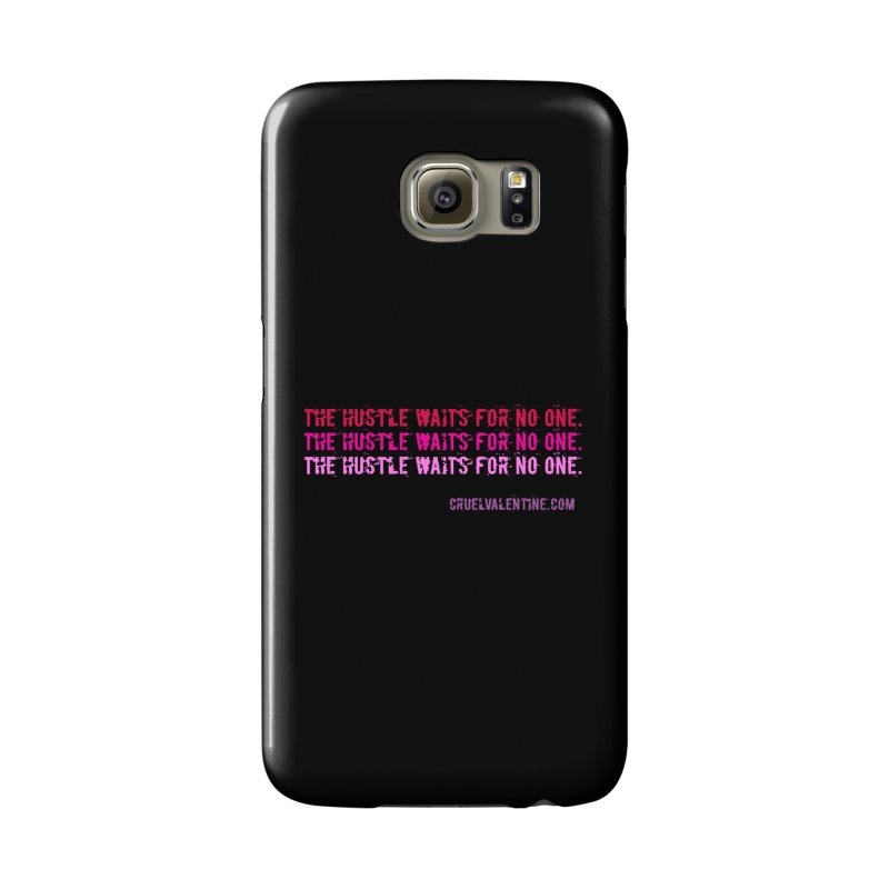 The Hustle Waits for No One - Pink Accessories Phone Case by Cruel Valentine