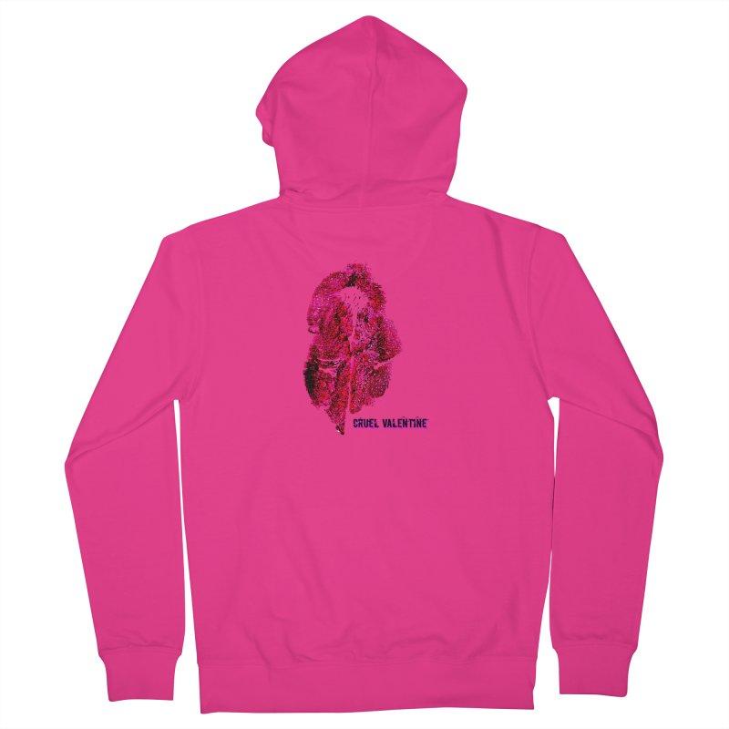 Vulva #34 in Pink Men's French Terry Zip-Up Hoody by Cruel Valentine