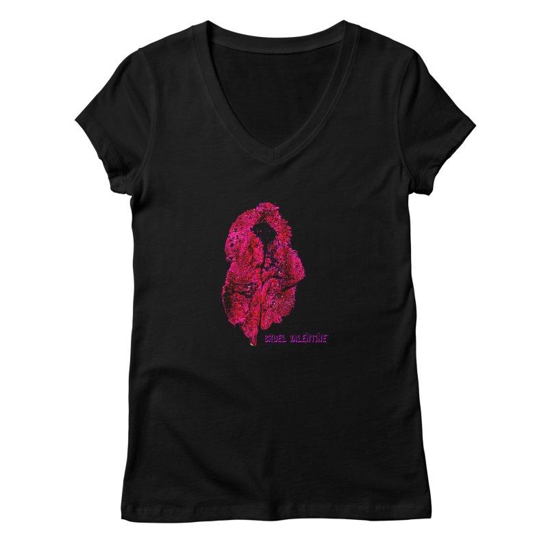 Vulva #34 in Pink Women's V-Neck by Cruel Valentine