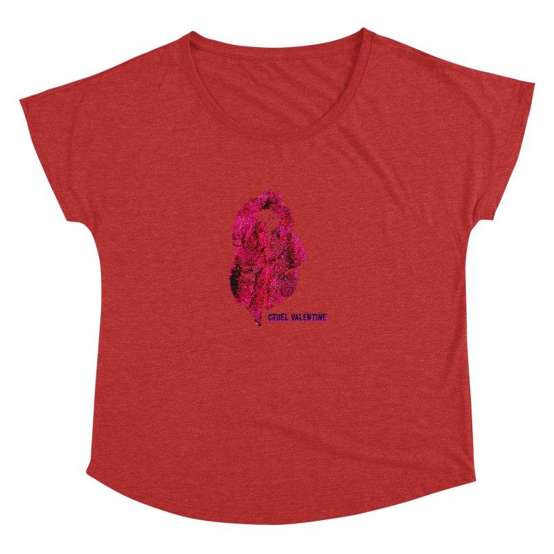 Vulva #34 in Pink Women's Dolman Scoop Neck by Cruel Valentine