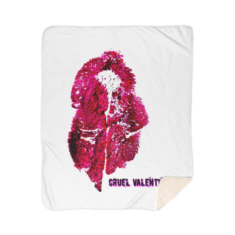 Vulva #34 in Pink Home Sherpa Blanket Blanket by Cruel Valentine
