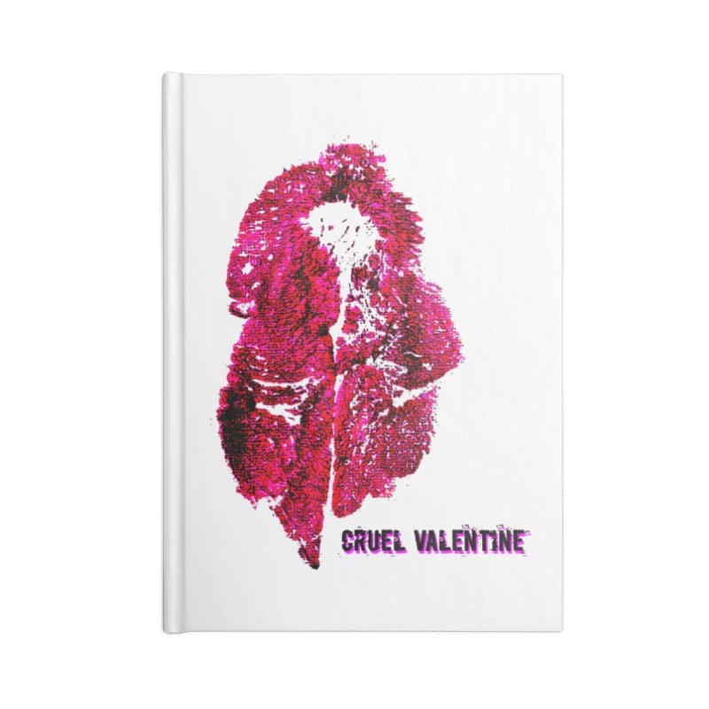 Vulva #34 in Pink Accessories Blank Journal Notebook by Cruel Valentine