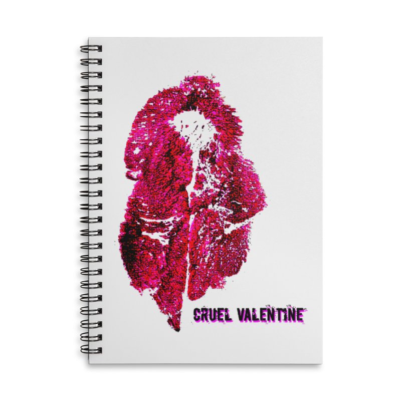Vulva #34 in Pink Accessories Lined Spiral Notebook by Cruel Valentine