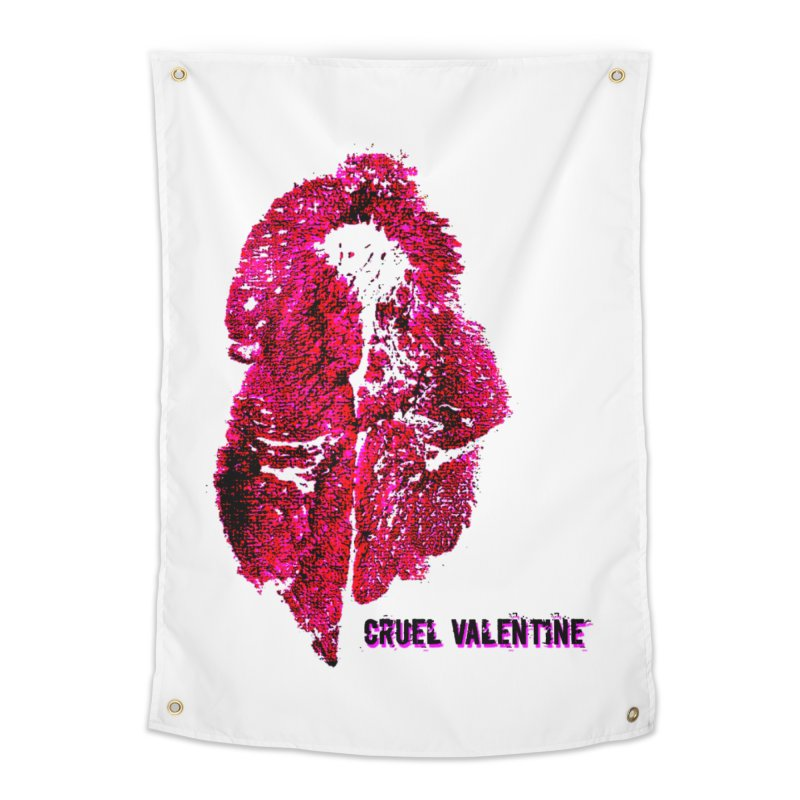 Vulva #34 in Pink Home Tapestry by Cruel Valentine