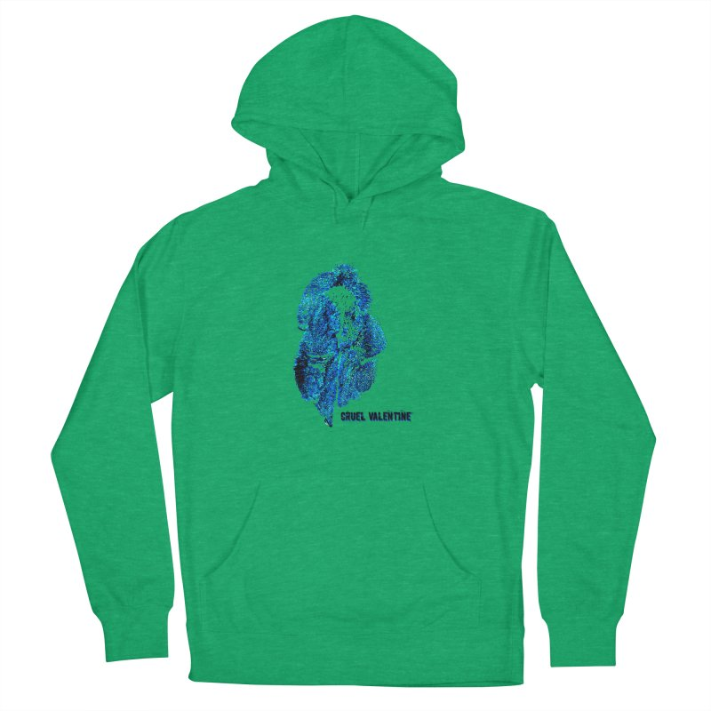 Vulva #34 in Blue Men's French Terry Pullover Hoody by Cruel Valentine