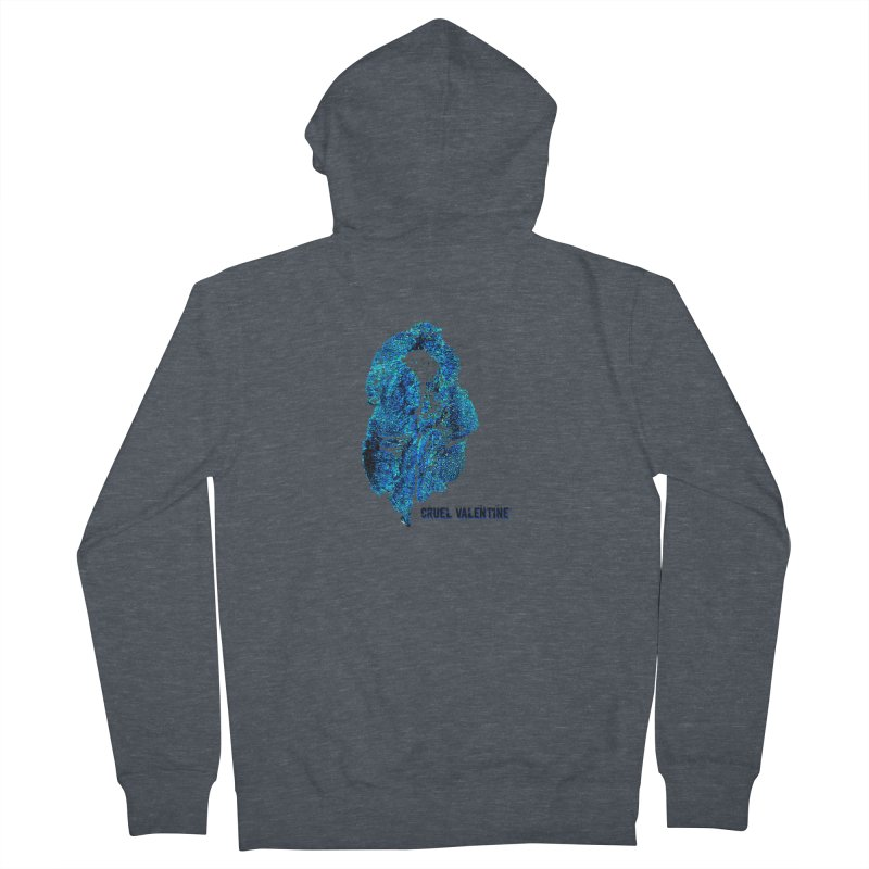 Vulva #34 in Blue Men's French Terry Zip-Up Hoody by Cruel Valentine