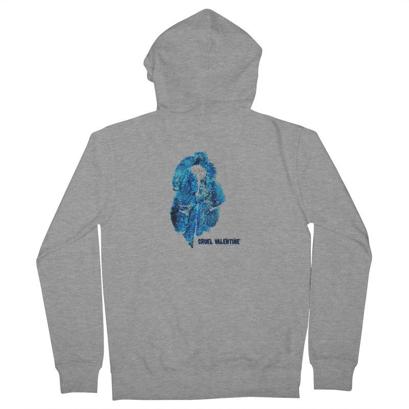 Vulva #34 in Blue Men's French Terry Zip-Up Hoody by Cruel Valentine