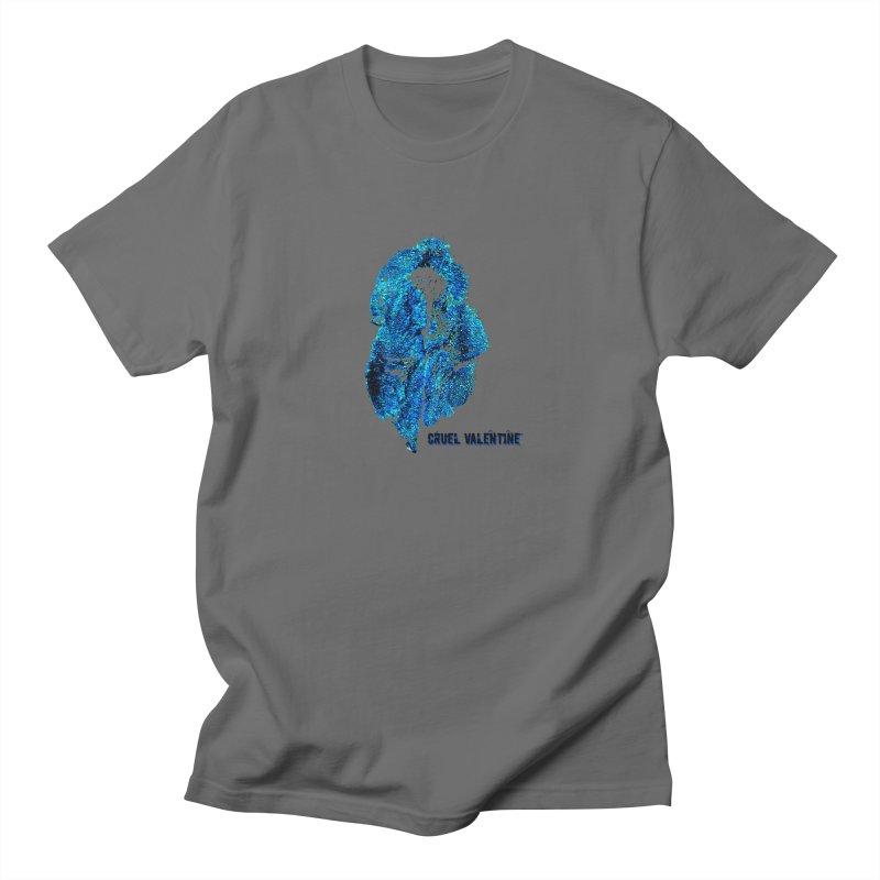 Vulva #34 in Blue Men's Regular T-Shirt by Cruel Valentine