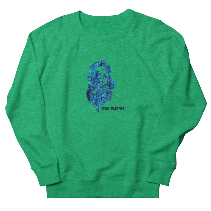 Vulva #34 in Blue Women's French Terry Sweatshirt by Cruel Valentine