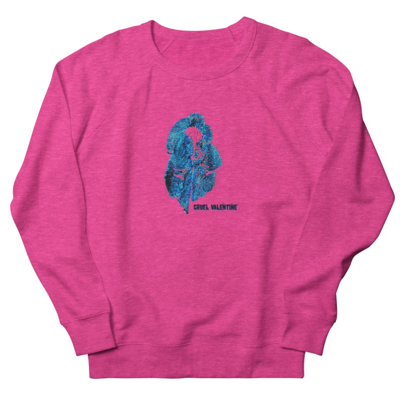 Vulva #34 in Blue Women's French Terry Sweatshirt by Cruel Valentine