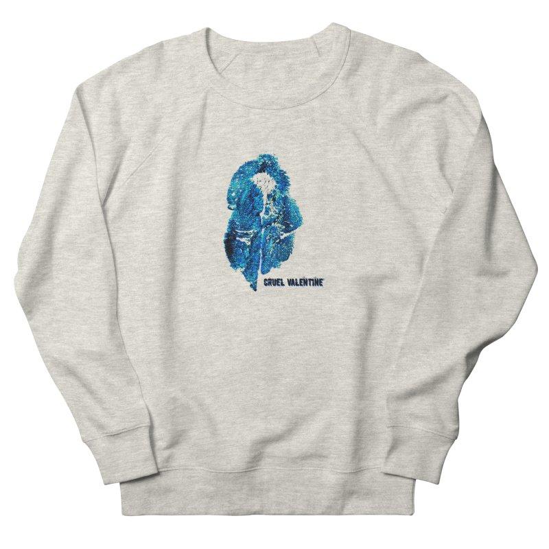 Vulva #34 in Blue Men's French Terry Sweatshirt by Cruel Valentine