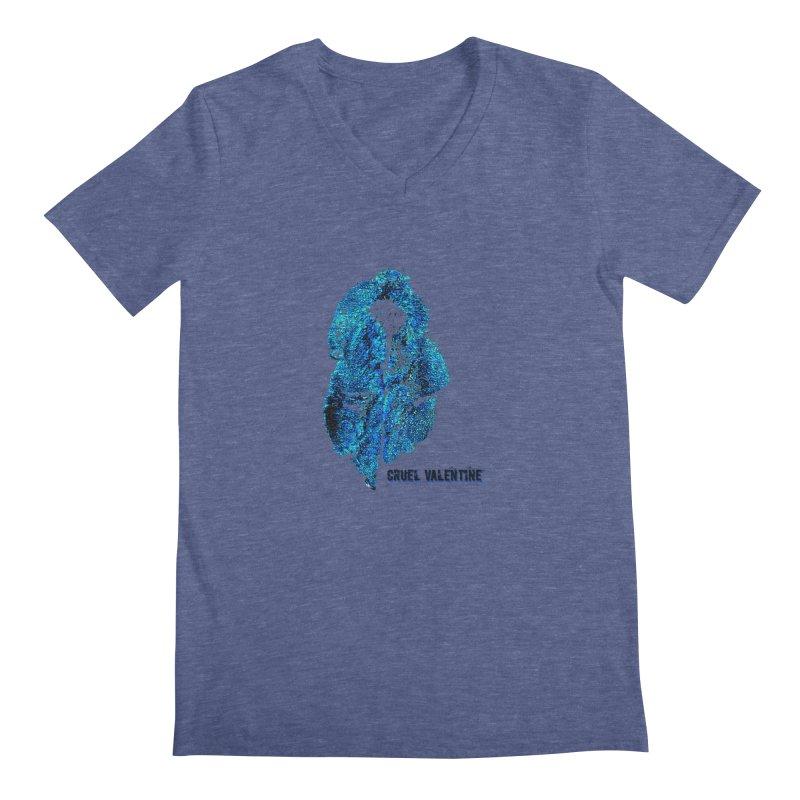 Vulva #34 in Blue Men's Regular V-Neck by Cruel Valentine