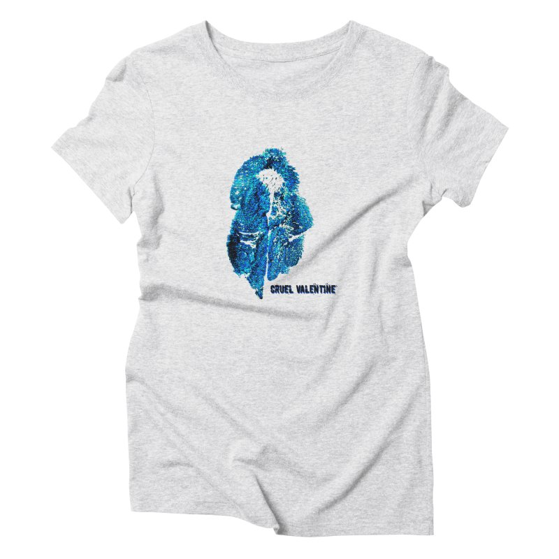 Vulva #34 in Blue Women's Triblend T-Shirt by Cruel Valentine