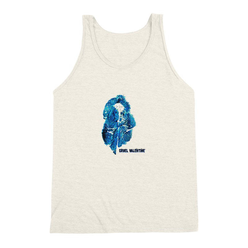Vulva #34 in Blue Men's Triblend Tank by Cruel Valentine