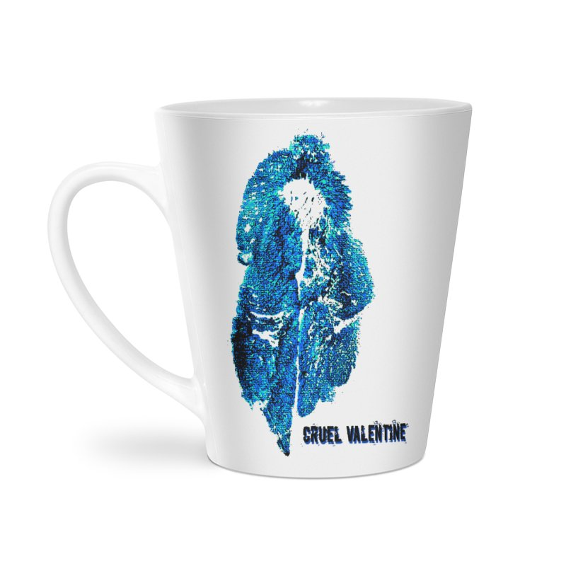 Vulva #34 in Blue Accessories Latte Mug by Cruel Valentine