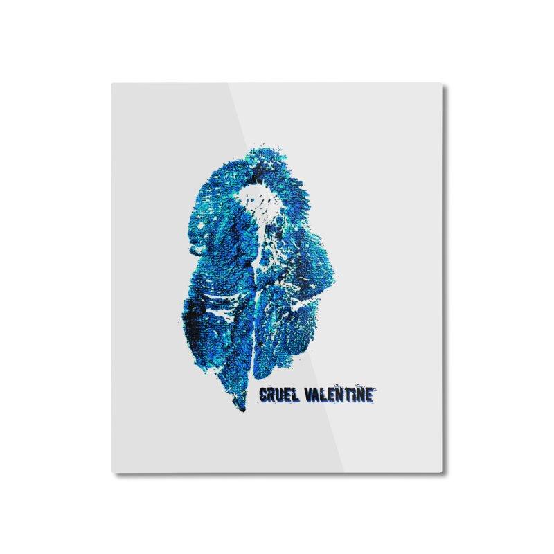 Vulva #34 in Blue Home Mounted Aluminum Print by Cruel Valentine