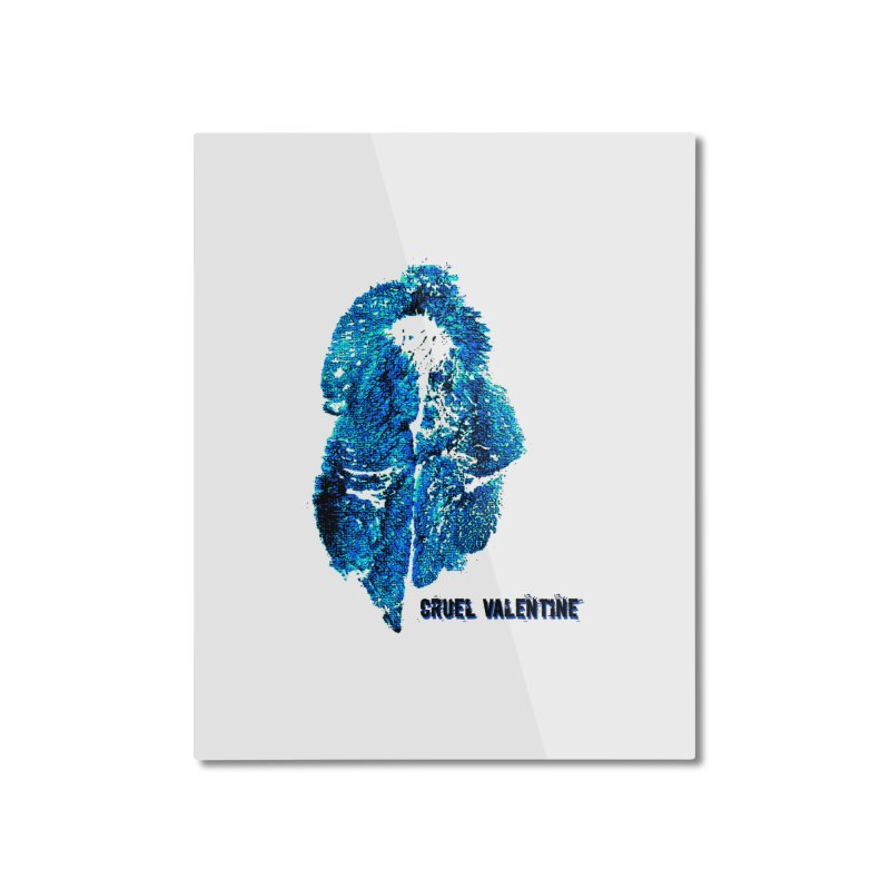 Vulva #34 in Blue Home Mounted Aluminum Print by Cruel Valentine