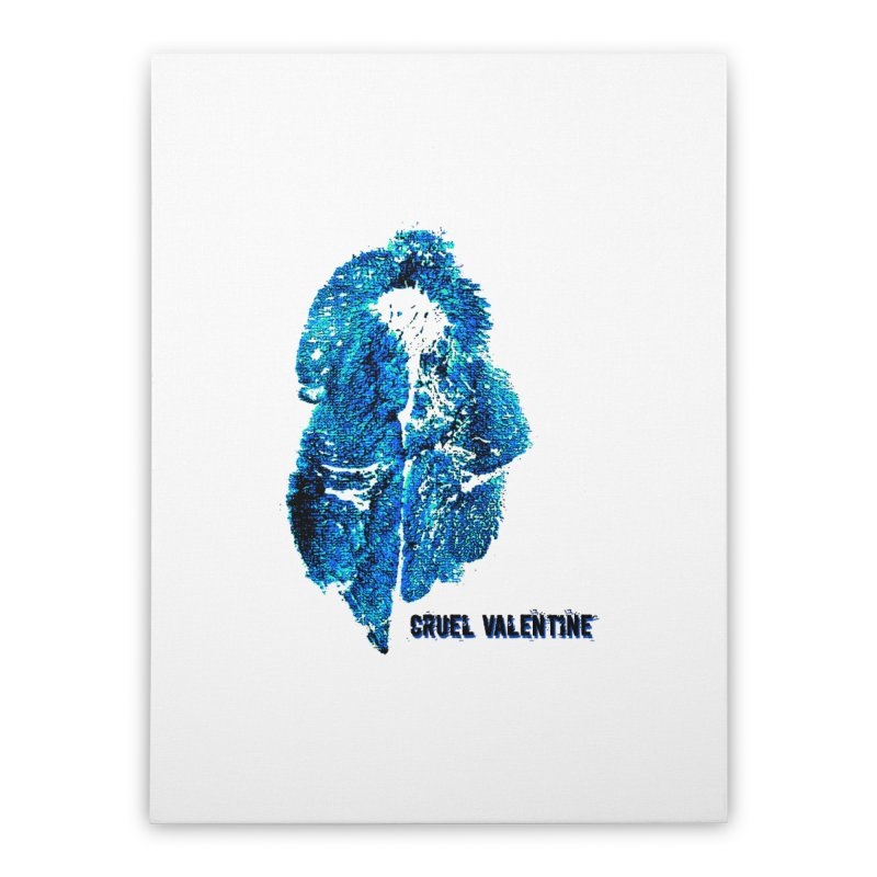 Vulva #34 in Blue Home Stretched Canvas by Cruel Valentine