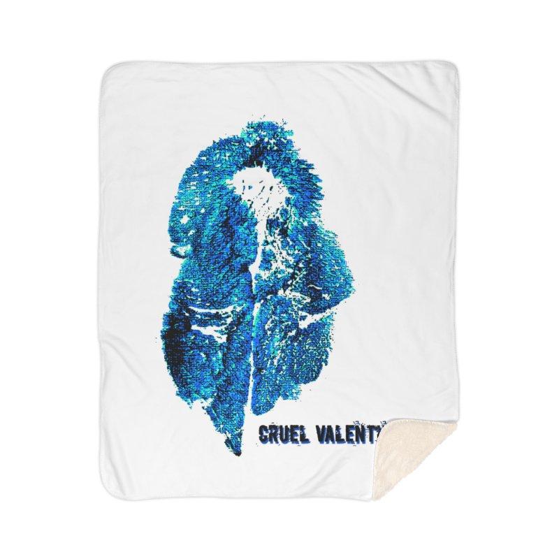 Vulva #34 in Blue Home Sherpa Blanket Blanket by Cruel Valentine