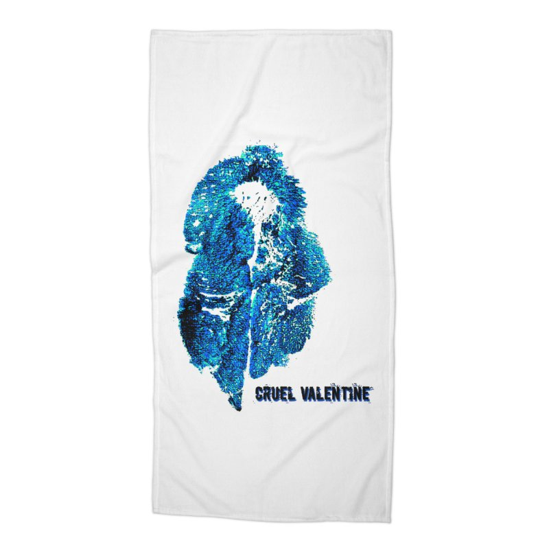 Vulva #34 in Blue Accessories Beach Towel by Cruel Valentine