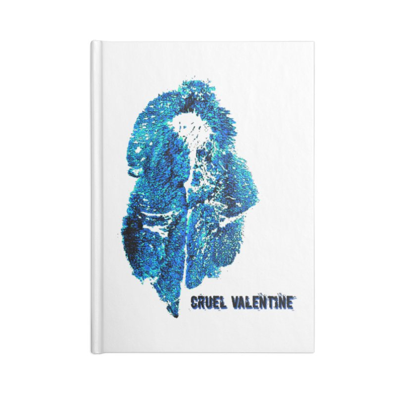 Vulva #34 in Blue Accessories Blank Journal Notebook by Cruel Valentine