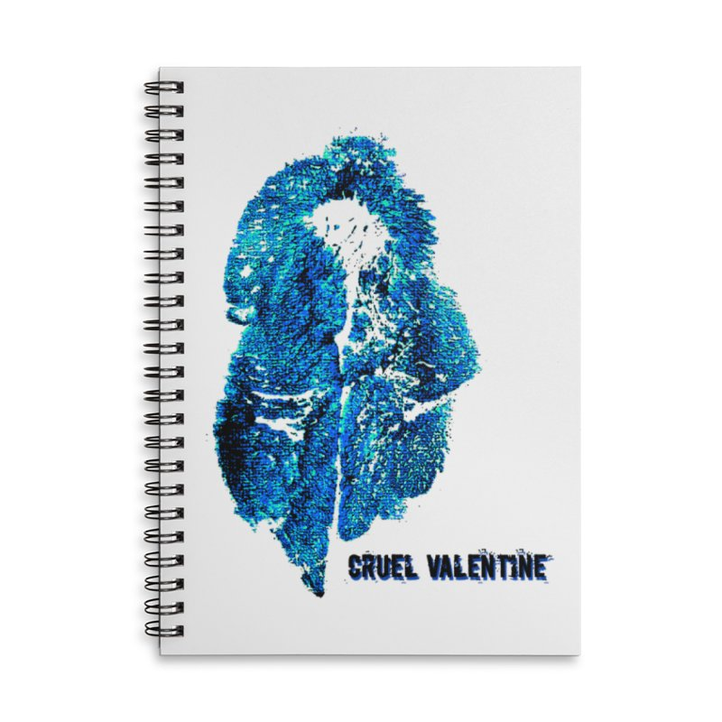Vulva #34 in Blue Accessories Lined Spiral Notebook by Cruel Valentine