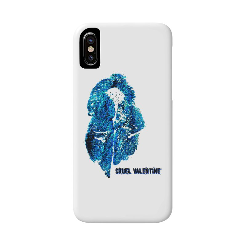 Vulva #34 in Blue Accessories Phone Case by Cruel Valentine