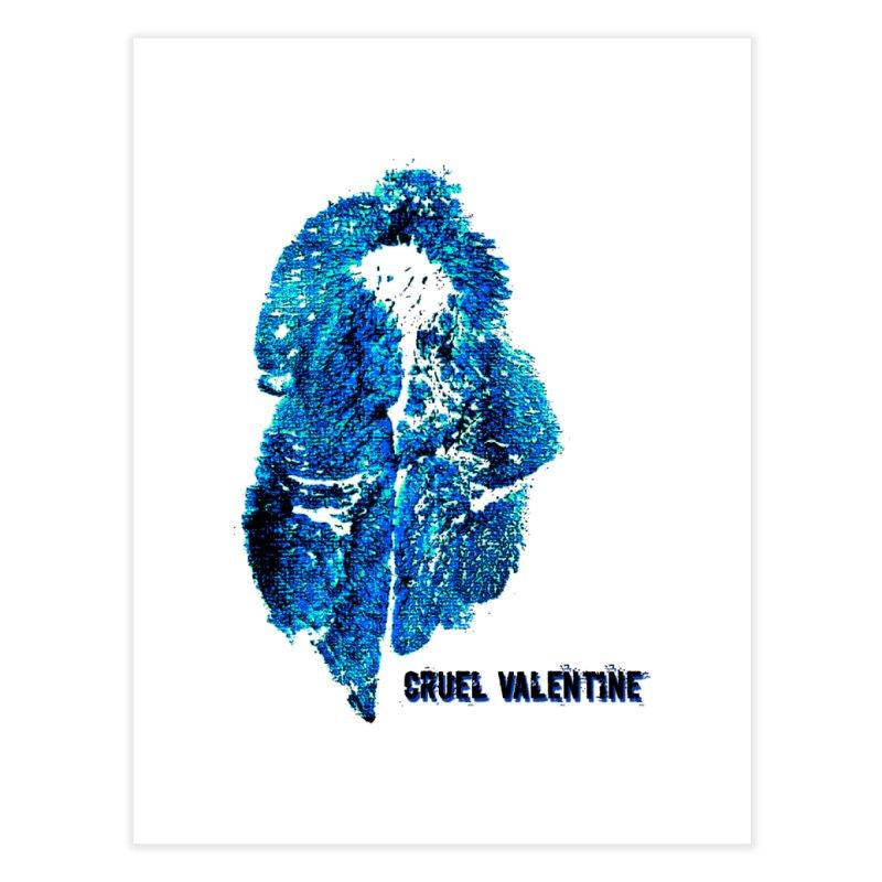 Vulva #34 in Blue Home Fine Art Print by Cruel Valentine