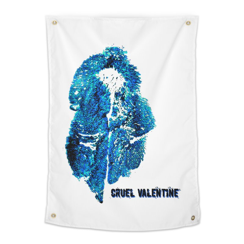 Vulva #34 in Blue Home Tapestry by Cruel Valentine
