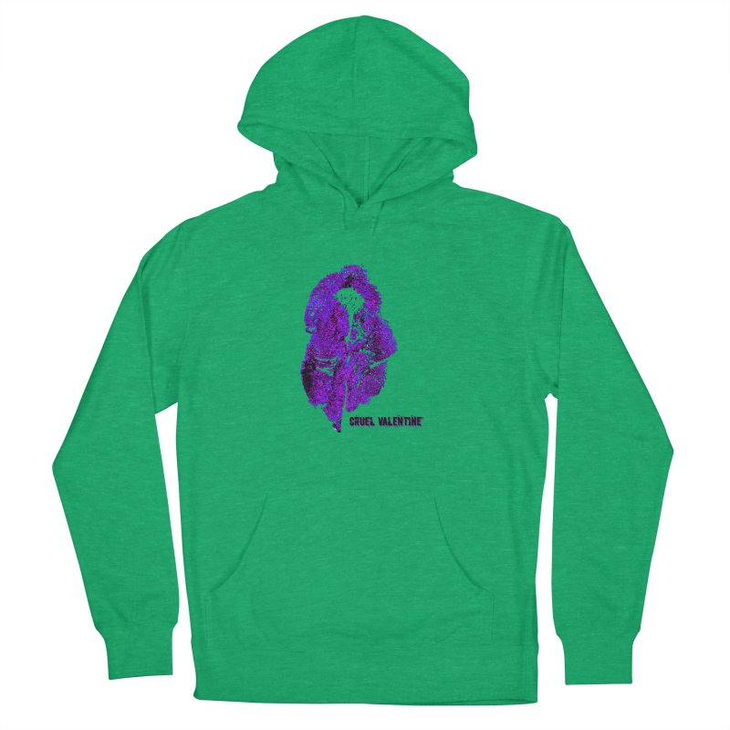 Vulva #34 in Purple Women's French Terry Pullover Hoody by Cruel Valentine