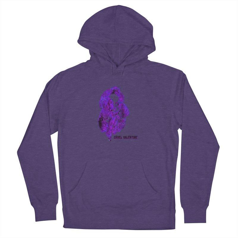 Vulva #34 in Purple Men's French Terry Pullover Hoody by Cruel Valentine